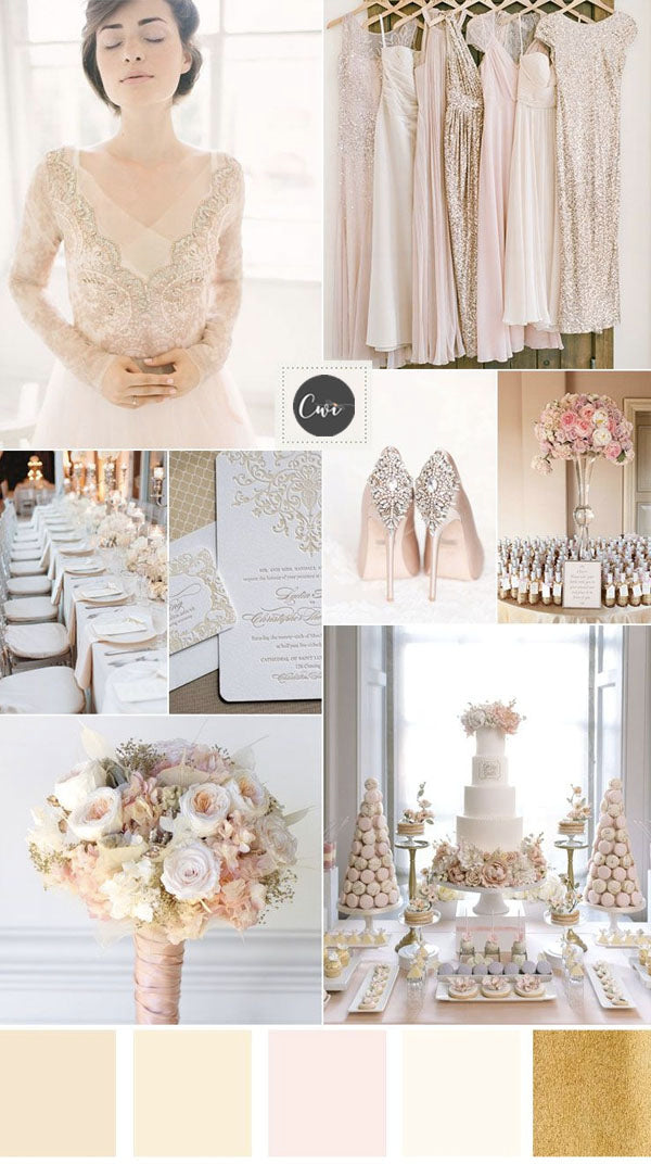 Blush and Nude  WEDDING COLOR IDEAS FOR your wedding