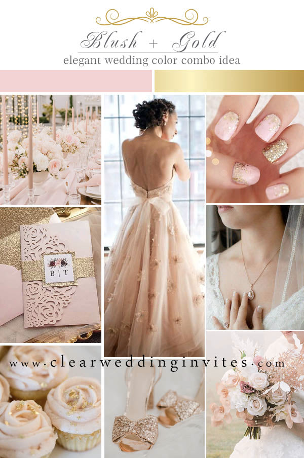 Blush pink and Gold Timeless Color Palettes That Are Never Outdated