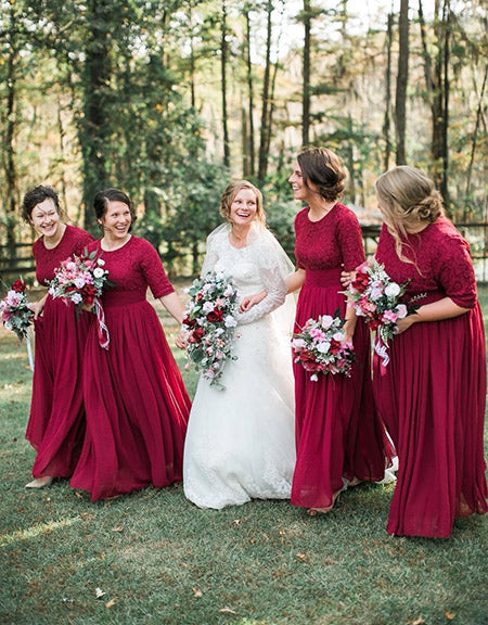 5 Cranberry Wedding Color Inspirations for Fall Winter Brides