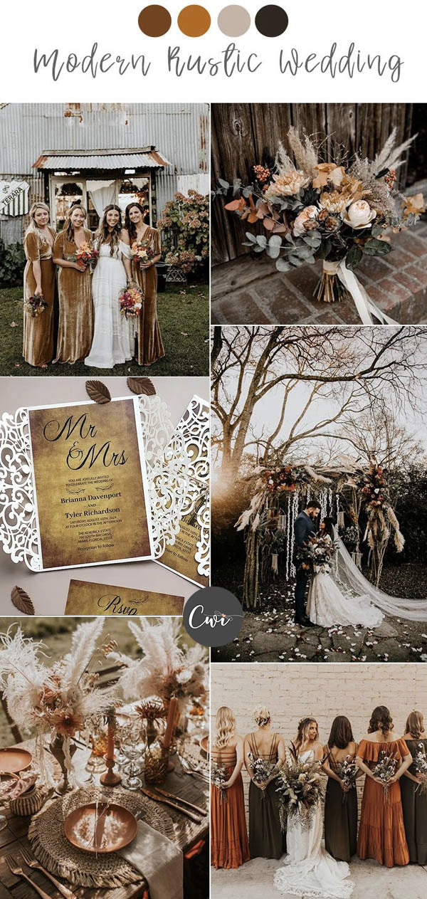 Burgundy, Rust and Terracotta Wedding Colors and Rustic Wedding Invites