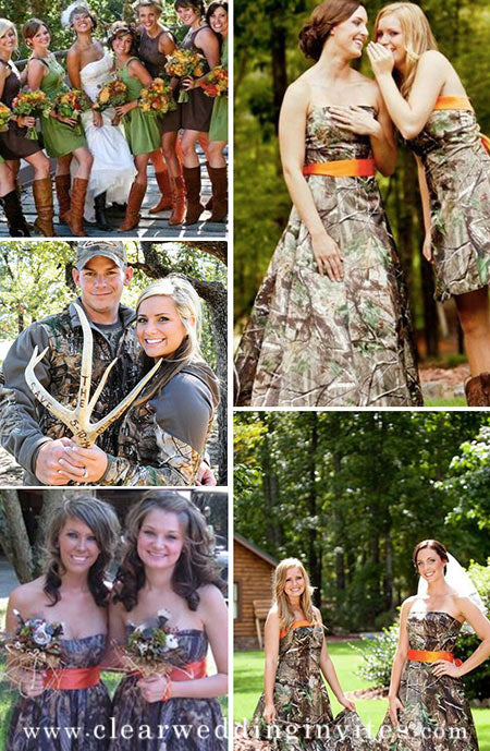 12 Chic Camouflage Wedding Ideas for Country Style Brides