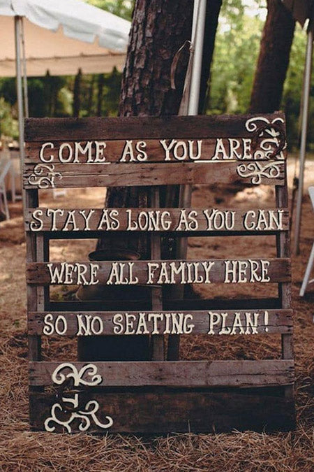 30 Wooden Wedding Signs Decoration Ideas for Rustic Theme