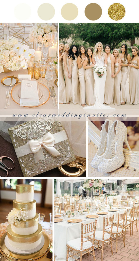 Cream Fabulous Wedding Colors with glitter accents for Fall & Winter Brides