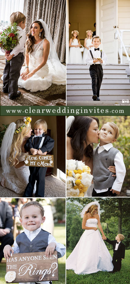 Creative and Lovely Wedding Ideas with Bride and Ring BearerCreative and Lovely Wedding Ideas with Bride and Ring Bearer