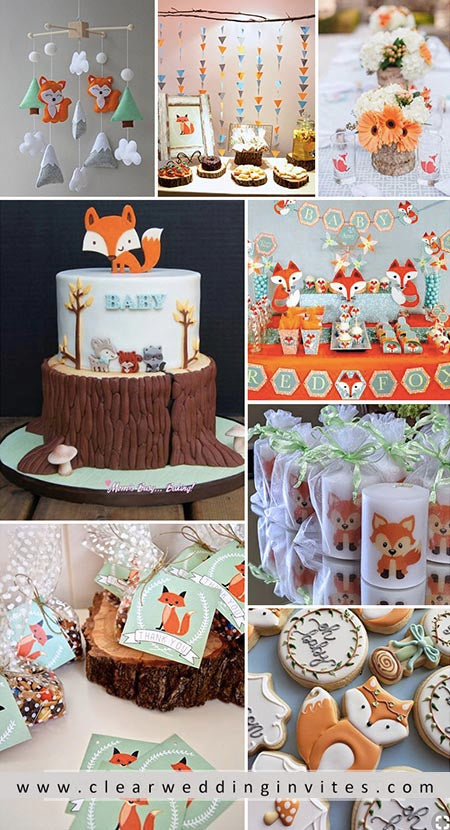 Cute Fox Baby Shower to Welcome the Baby