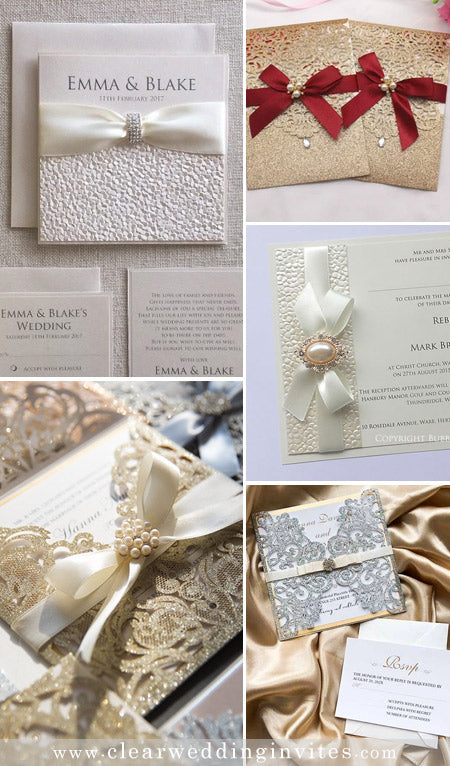 Delicate and Elegant Ribbon Wedding Invitations for 2022 Couple