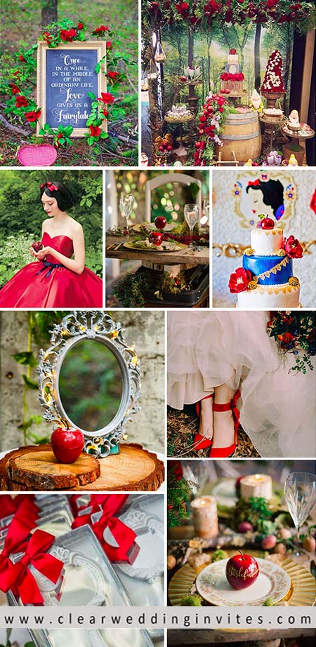 Disney Fairy Tale: Pure and Adorable Snow White Wedding Themes