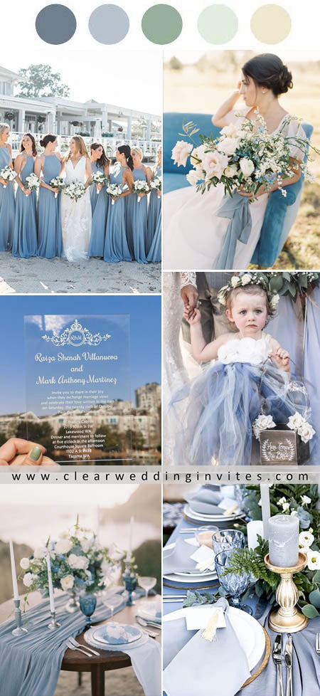 Dusty Blue Wedding Color Palette Ideas for 2021 Big Day