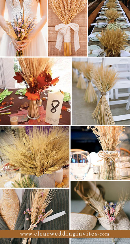 Wheat Decoration Elements For a Country Barn Wedding