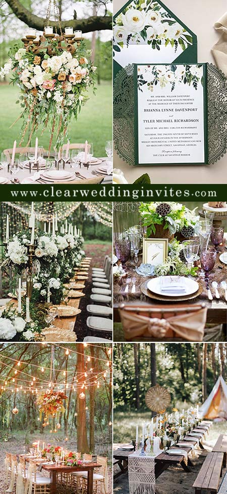 Enchanting Woodland and Forest Wedding Ideas and Decor