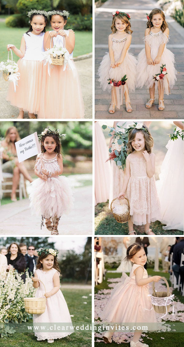 Modern Pink Wedding The Cutest Flower Girl Dresses For Your Little Miss