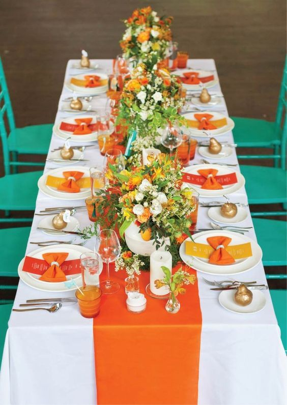 Flame and Yellow Wedding Colors for Spring