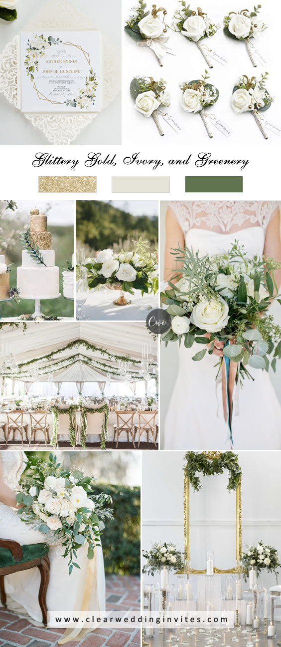 Ivory and Botanical Refreshing Greenery Wedding Color Ideas to Steal