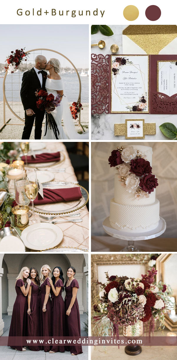 gold fall formal church Wedding Color Ideas for 2022