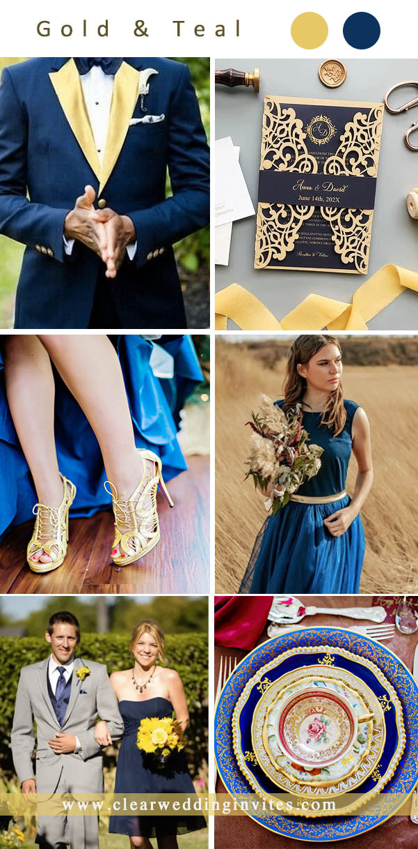 Gold navy summer country barn Wedding Color Ideas for 2022