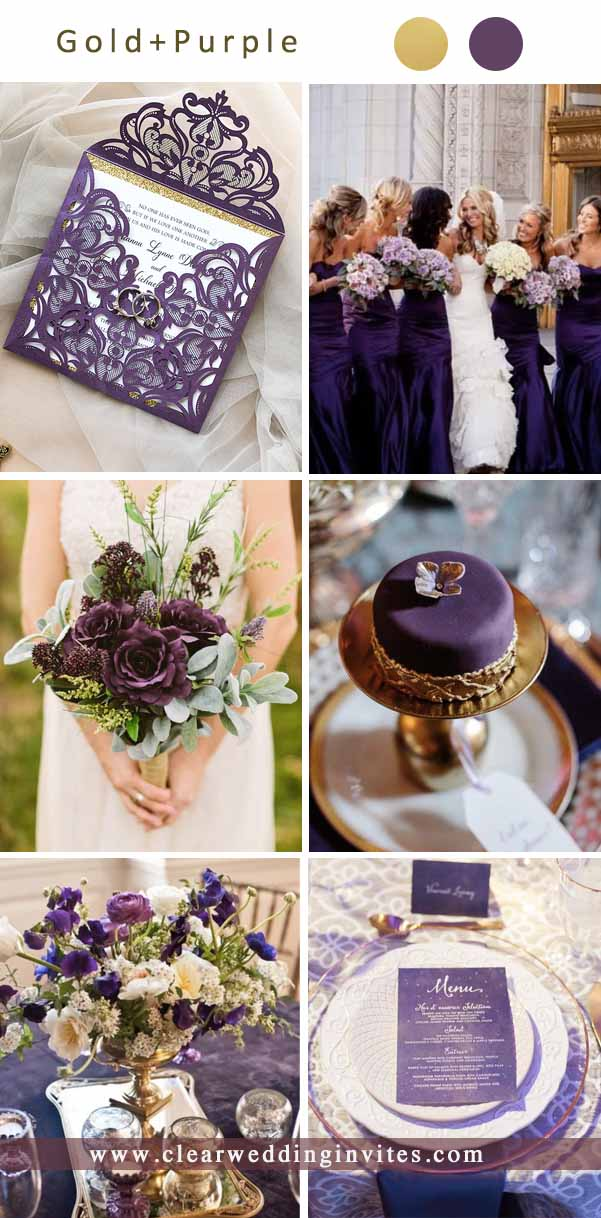 Chic Dark and Moody Purple Wedding Ideas and Colors
