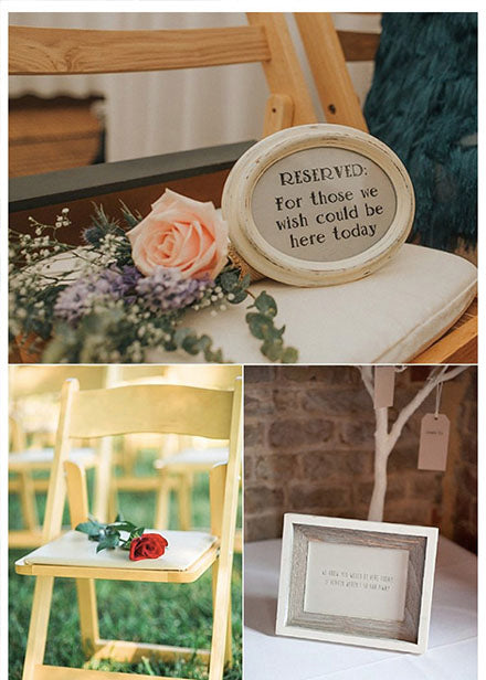you are able to have our loved ones in your wedding ceremony or reception in many emotional ways