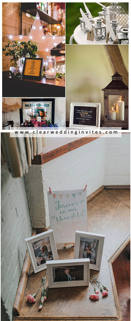 Good IDEAS TO REMEMBER DECEASED LOVED ONES at your wedding