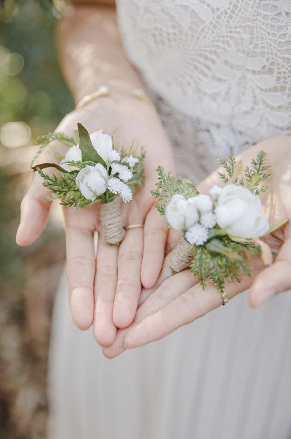 Greenery GroomBoutonniere rustic Boutonniere with burlap