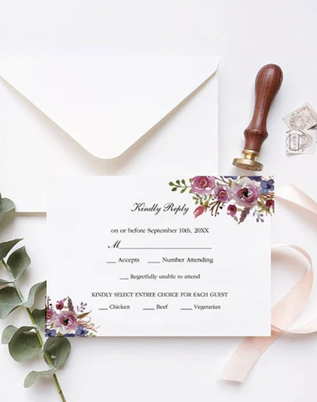 How to Order Response Cards along with the Wedding Invitations