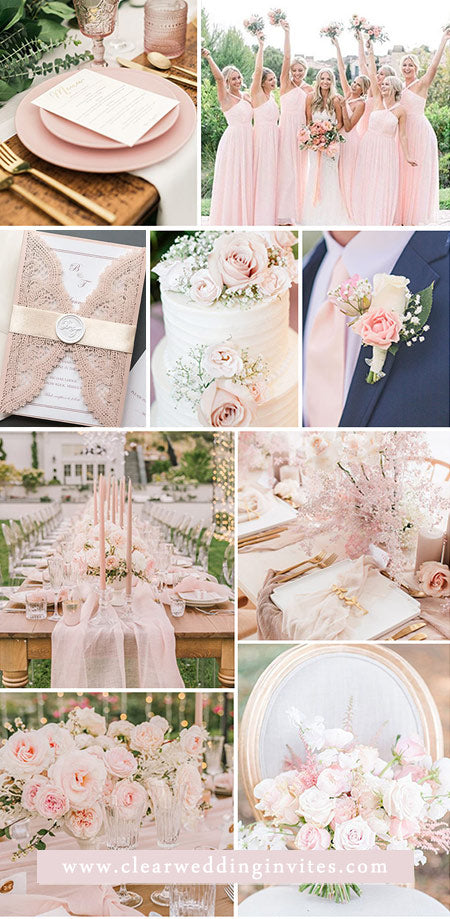 Inspirational Ideas for Bride to a Plan Perfect Blush Pink Weddings