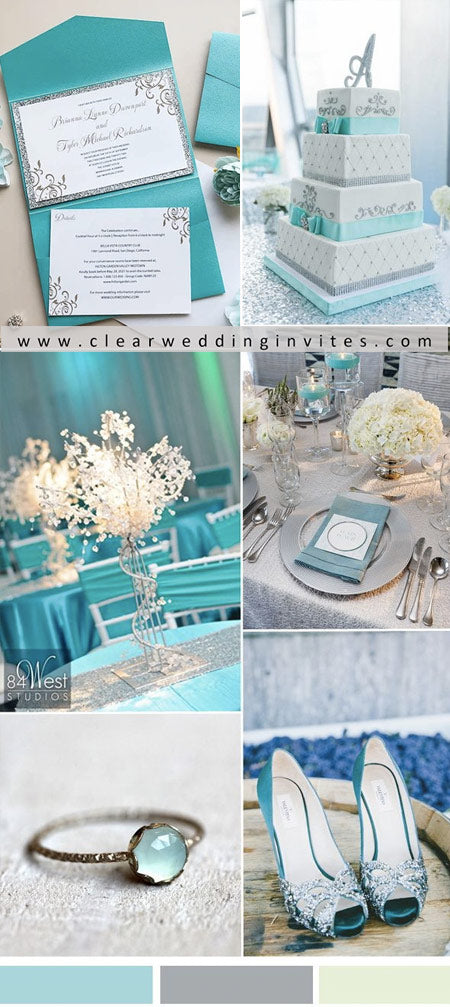 Fabulous aqua blue and silver Wedding Colors for 2022 Wedding Trends