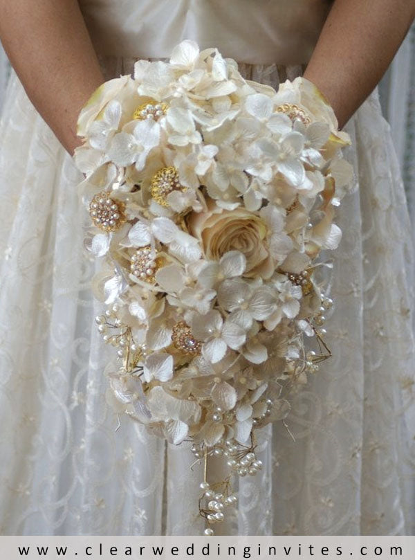 Lily of the valley bridal bouquet, Simple wedding bouquets, Ivory bouquet wedding
