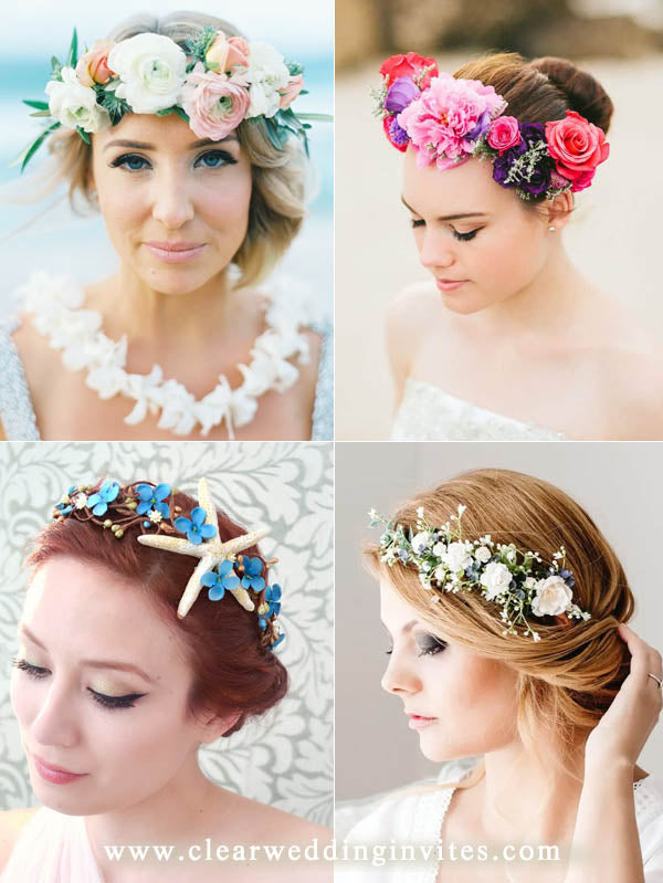 Making a flower crown for brides