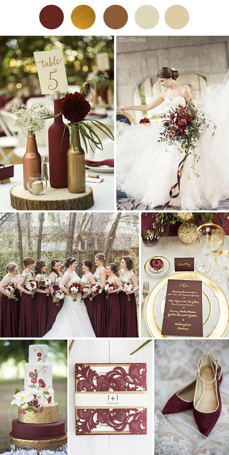 5 Popular Marsala Wedding Color Combos to Rock Your World