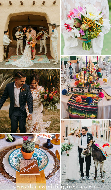 Sweet Treat Mexican Destination Wedding If you were thinking of a destination wedding in Mexico, here are some inspirations!
