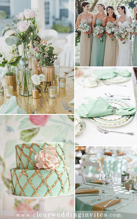 8  Mint Wedding Color Schemes for 2022 Spring and Summer