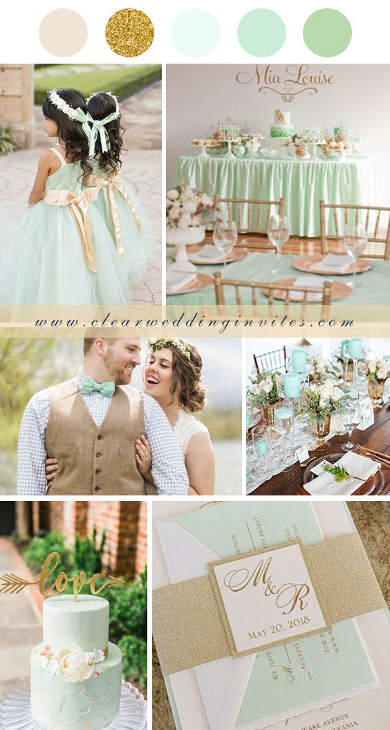 Mint Green ivory and Gold Summer Wedding Inspiration