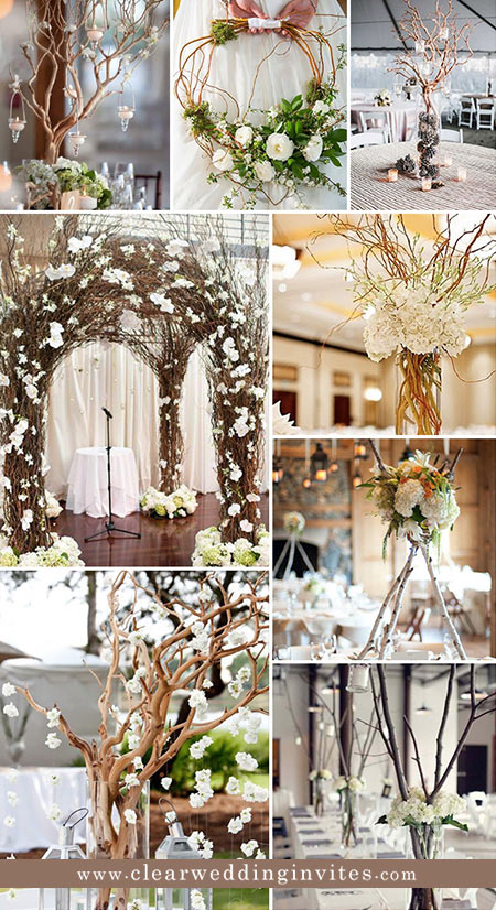 Rustic Twigs and Branches Wedding Ideas 8 Most Popular Fall Wedding Decor Ideas for Your 2021/2022 Big Day