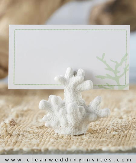 Ocean Coral Place Card Holder