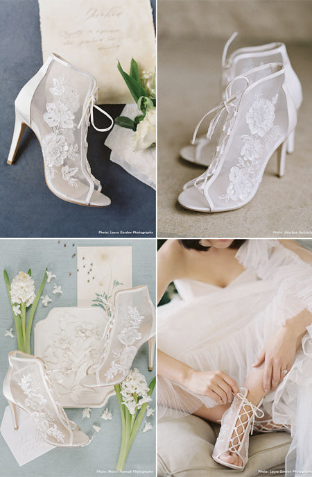 Gorgeous French-Inspired Classic Wedding Shoes