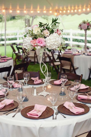 Pink and Brown Wedding Reception Ideas for Spring