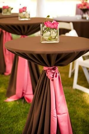 Pink and Brown Wedding Colors for Spring