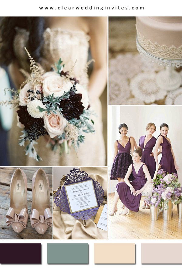 Plum and Nude WEDDING COLOR IDEAS FOR your wedding
