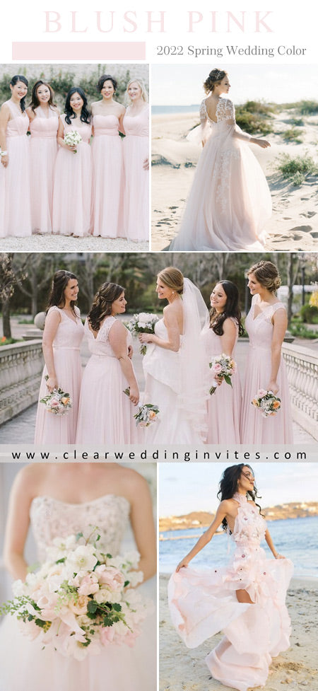 Blush is beautiful and romantic and ideal for brides who want a fresh and trendy look for spring