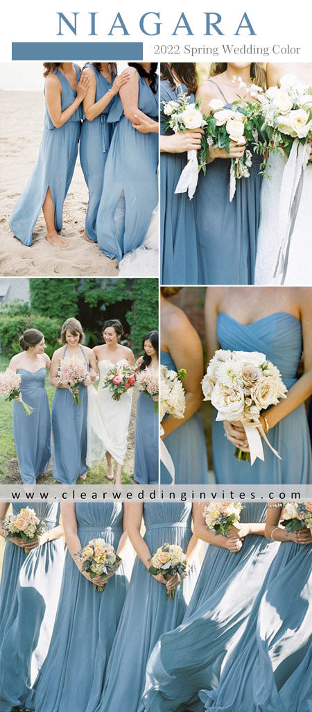 Bridesmaid Dresses Colors for Spring 2022 Inspired by Pantone