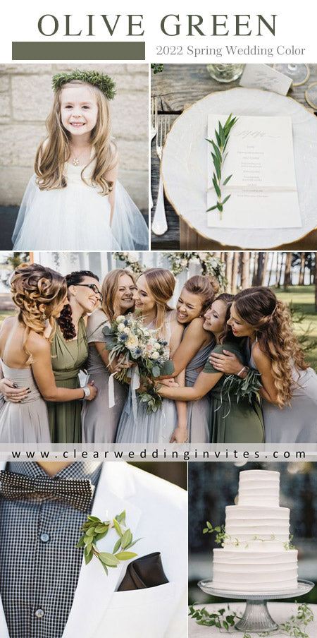Greenery Popular Wedding Colors for Spring 2022 Inspired By Pantone