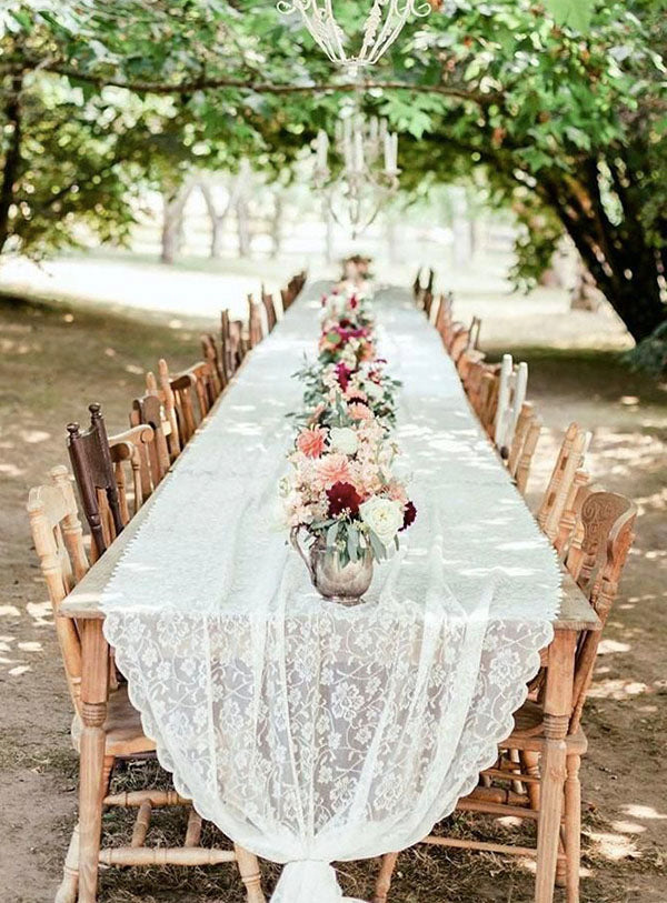 Pretty And Cheap Greenery and Flower Decor For Outside Garden Wedding