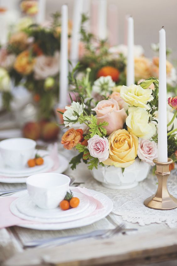 Primrose and Pink Wedding Colors for Spring