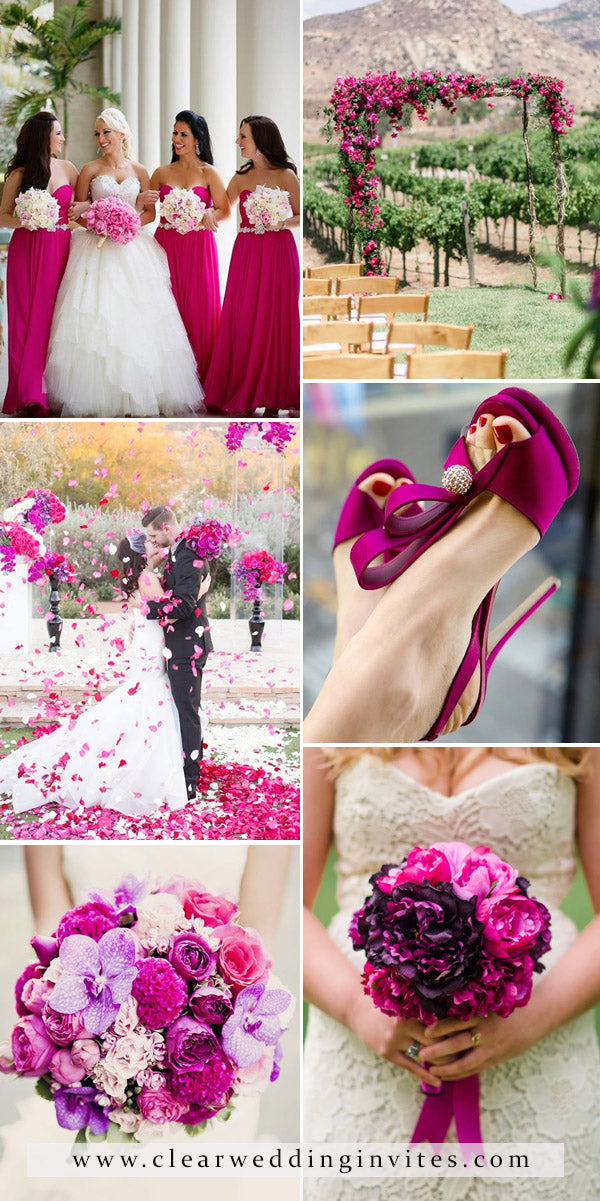 Purple and Fuchsia Wedding Purple and Pink have always gone together