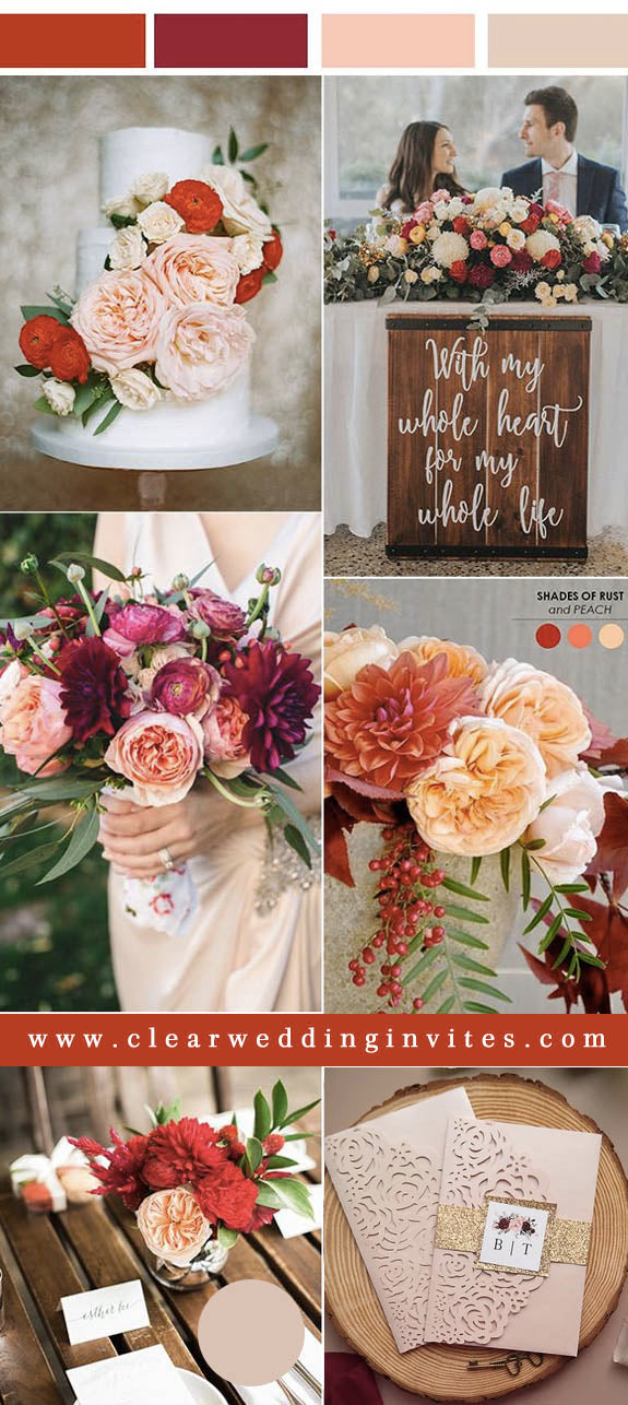 Peach, pink, red and Organic Greenery Refreshing Greenery Wedding Color Ideas to Steal