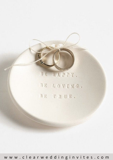 Ring Bearer Pillow clay patterned plate