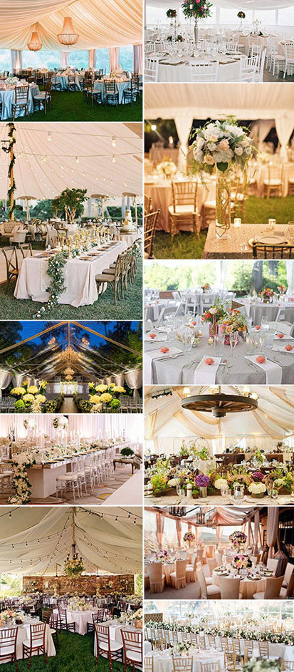 Romantic Lights for tended wedding decoration