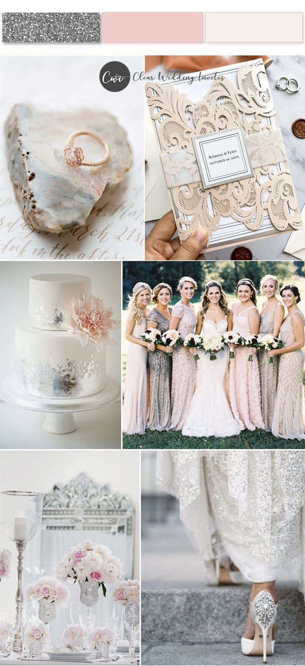 Rose Gold, Blush and Silver  Mesmerizing Wedding Color Palettes to Make Your Big Day Rock