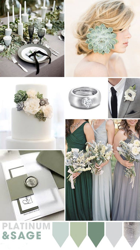 Romantic Grey and Organic Refreshing Greenery Wedding Color Ideas to Steal