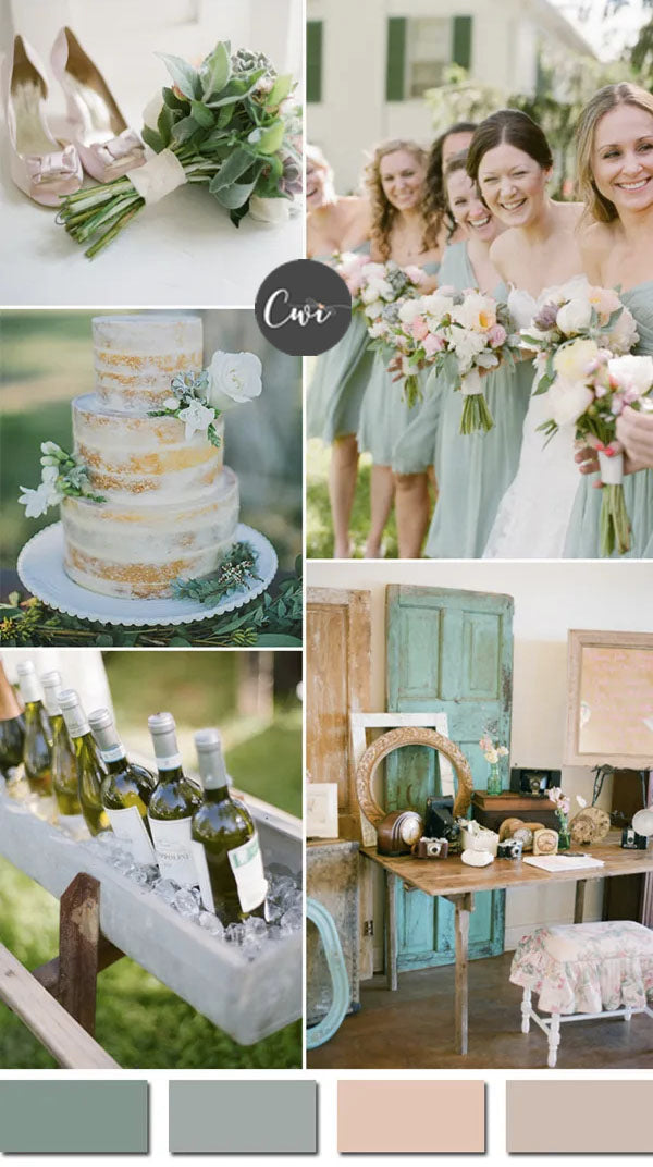 Sage Green and Nude WEDDING COLOR IDEAS FOR your wedding